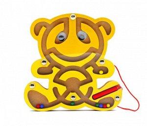 Лабиринт магнитный Мишка желтый