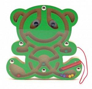 Лабиринт магнитный Мишка зеленый