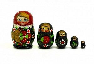 Матрешка малышка земляничка 5 кукольная