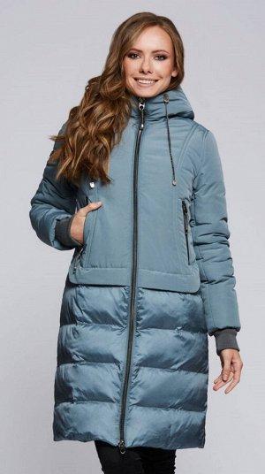 """Пальто """"Кларита""""  бирюзовый"""