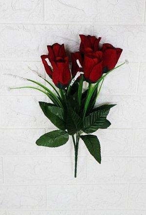 Цветы Материал бархат. высота 35см ,7веток,7бутонов ⊙ 2см,высотой 6см. цена 40руб.  Темно красного цвета