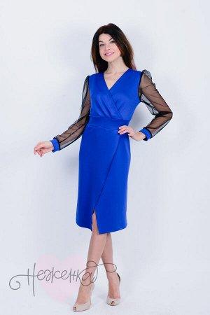Платье П 672 (васильковый)