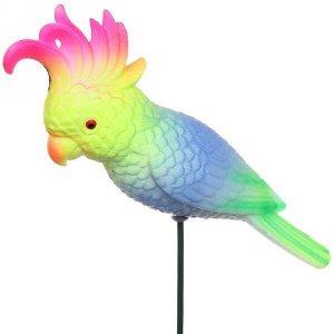"""Фигура на спице """"Попугай какаду"""" 15*40см"""