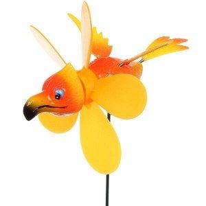 """Фигура на спице """"Попугай"""" 12*40см ветрячок"""