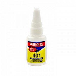 Клей 401 Gold 20g, Малый /белый/ Корея