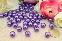 Бусины под жемчуг (фиолетовый)10мм в упаковке 25 шт