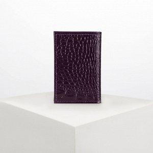 Визитница вертикальная, 1 ряд, 18 листов, цвет фиолетовый