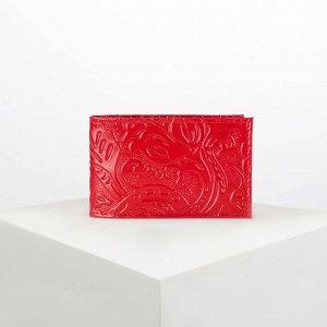 Визитница горизонтальная, 1 ряд, 18 листов, цвет красный