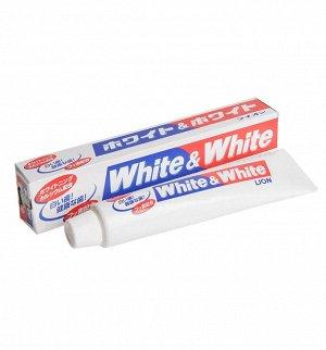 """""""Lion"""" """"White & white"""" зубная паста с двойным отбеливающим эффектом 150 г. (в коробке)"""