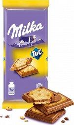 Шоколад Милка Milka Молочный с соленым крекером TUC,87г