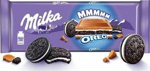 Шоколад Милка Орео Milka Oreo Молочный с начинкой,300г