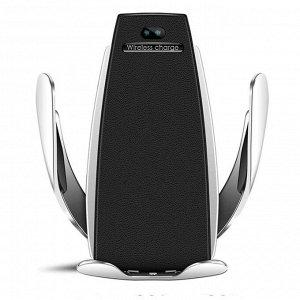 Держатель телефона в дефлектор, беспроводная зарядка, сенсорный захват 6-9.5 см, серебро