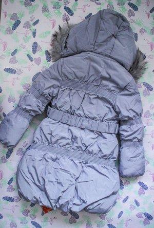 Пальто зимнее серое