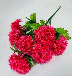 Цветы искусственные (букет из 7 цветов) розовые, красные