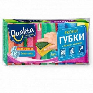Губки QUALITА кухонные PROFILE 5 шт