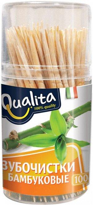 Зубочистки QUALITA 100шт бамбуковые