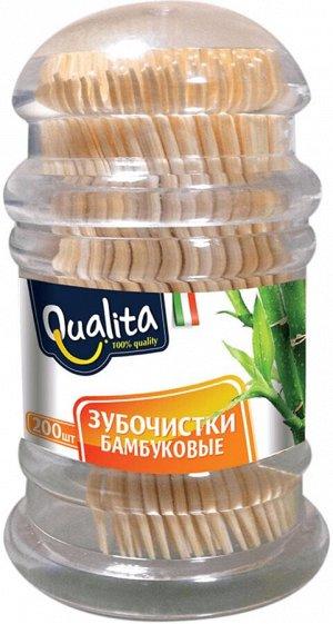 Зубочистки QUALITA 200шт бамбуковые