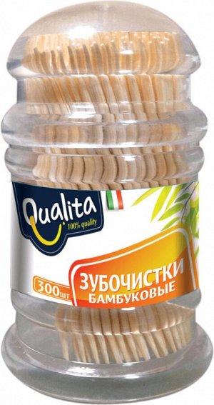 Зубочистки QUALITA 300шт бамбуковые