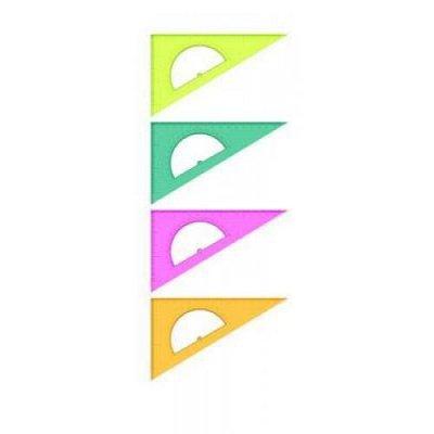 Яркая канцелярия для школы и сада! Широкий ассортимент-6. — Треугольники, транспортиры — Графика и черчение