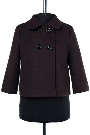 01-07083 Пальто женское демисезонное Пальтовая ткань шоколад