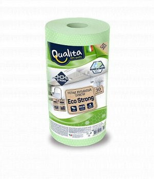 Салфетки QUALITА 30шт Eco Strong в рулоне