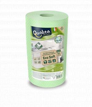 Салфетки QUALITА 90шт Eco Soft Maxi в рулоне