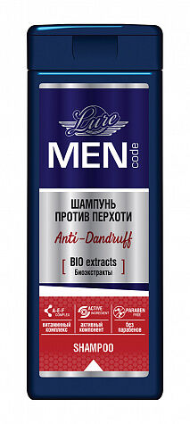Шампунь LURE MEN CODE 220мл ANTI-DANRUFF п/перхоти
