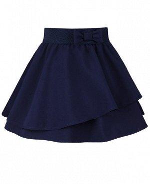 Школьная синяяя юбка для девочки Цвет: синий