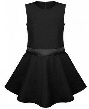 Черный школьный сарафан для девочки Цвет: черный