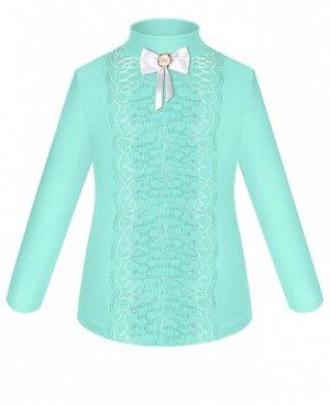 Бирюзовая школьная блузка для девочки Цвет: ментол