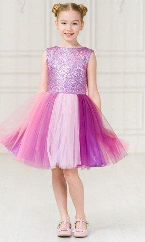 Детское нарядное платье «Принцесса Единорог-1» сиреневый
