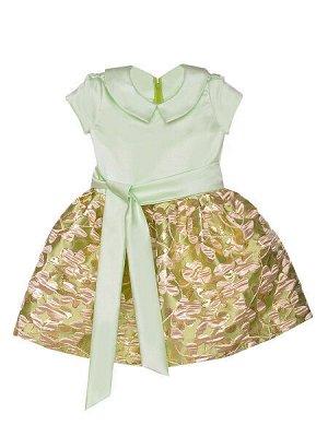Платье - мятный, золото цвет