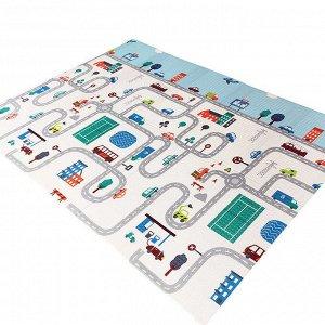 Детский игровой коврик складной двусторонний