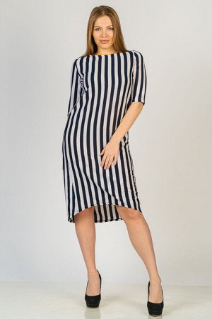 Платье П 272 (Черная полоса)