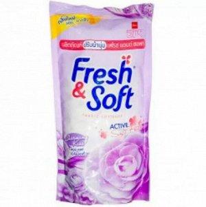 "LION Essence Fresh & Soft Кондиционер для белья 600мл, ""Violet Romanc"" мягк.упаковка, Таиланд"