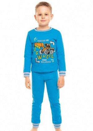 * Цвет: синий Описание: Отличная теплая пижама из натурального футера с начесом. Горловина, манжеты из эластичного полотна. Пояс с резинкой. Впереди яркий принт. Состав: 100%Хлопок