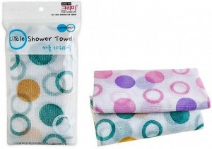 "SUNG BO Мочалка д/душа ""Circle Shower Towel "" №178 (28х100см) средней жесткости /нейлон, полиэстер /200шт/"