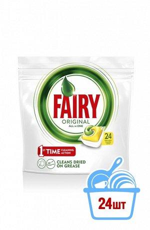Средство для мытья посуды FAIRY All in 1 ЛИМОН в капсулах для посудомоечных машин (24 шт.)