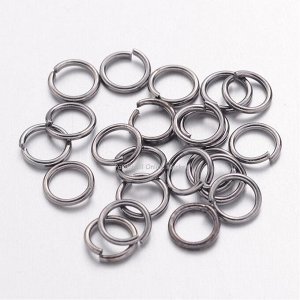 Кольца никель. 8 x 0,7 мм. Цена за 20 шт