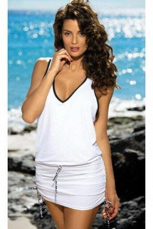 M 313 ELSA Пляжное платье-туника(белый)