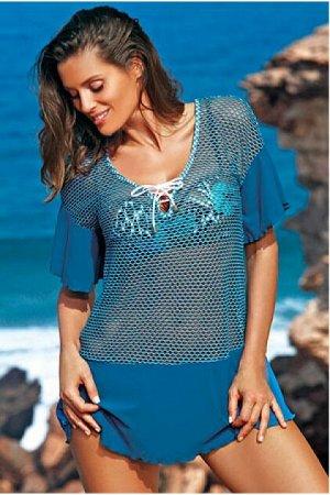 M 460 CLAIRE Пляжное платье-туника (синий)