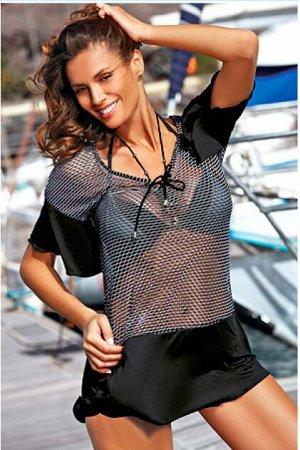 M 460 CLAIRE Пляжное платье-туника (черный)