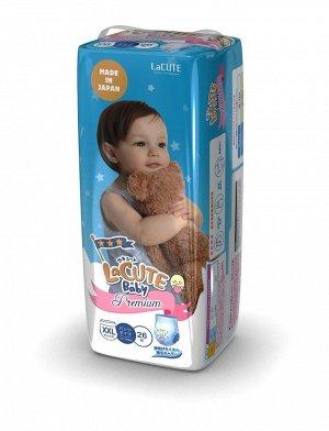 Детские подгузники-трусики LaCUTE Baby Diapers, XХL 13-25кг, 26 штук/упаковка (производство Япония)