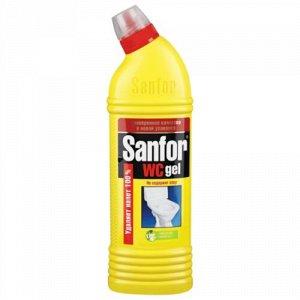 Чист.гель SANFOR 1л WC Лимонная свежесть