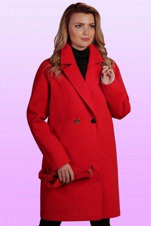 Красный Стильное и элегантное пальто с классическим покроем воротника заявит о безупречности вкуса. Удобный крой изделия и свободный объем придадут максимум комфорта обладательнице данного пальто. Это