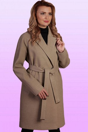 Бежевый Стильное и элегантное пальто с классическим покроем воротника заявит о безупречности вкуса. Удобный крой изделия и свободный объем придадут максимум комфорта обладательнице данного пальто. Это