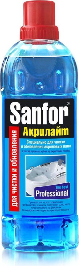 Чист.гель SANFOR 920мл Акрилайт д/акриловых ванн