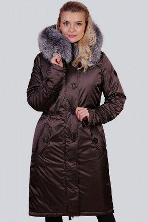 Кофейный Самыми стильными моделями стали зимние пальто с утеплителем термофин, декорированные натуральным мехом чернобурки.  Именно такой натуральный декор, по мнению модельеров, сегодня на пике попул