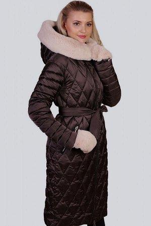 Кофейный Зимнее пальто с утеплителем синтепух– один из самых удачных стильных выборов на холодный период для ежедневной носки. Синтепух-это искусственный наполнитель, хорошо сохраняющий тепло и не впи