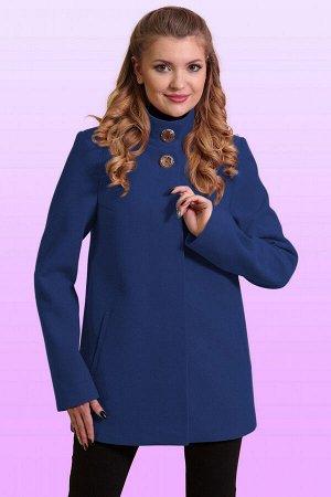 Синий Стильная модель женственного покроя. Каждая деталь этого короткого пальто основательно продумана, чтобы обеспечить идеальный баланс между стилем и комфортом. Потайная застежка и две декоративные
